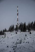 Sender mit wenig Schnee