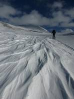 Windgangln am Ausstieg aus dem Schattnerkar - Gipfel in Sicht!