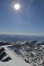 Aufstiegsroute über Querlstein auf den Mittermölbing - Enntalblick und dahinter die Niederen Tauern
