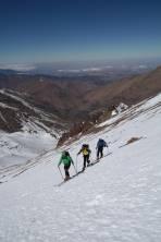 Aufstieg zum Gipfel Likemt