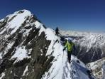 Am Rückweg vom Gipfel