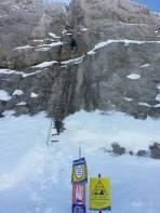 Leiter vom Rosmariestollen zum Austriaschartenlift (Dachsteingletscher)