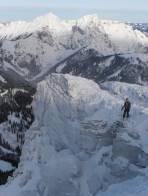 Oberhalb der Gipfelfelsen - Blick zu Kaiserschild und Hochkogel