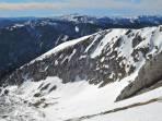 Bockgrube von oben: auf der rechten Seite genug Schnee