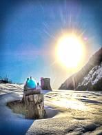 strahlender Sonnschein am Start im Bretsteingraben