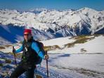 knapp vor dem Gipfel mit Dachsteinblick