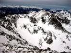 Der Blick nach Norden offenbart die geringe Schneelage