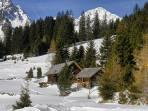 Schöttlalm 1525m mit Blick zum Lachkogel 2265m
