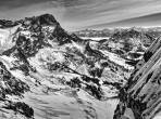 Blick von der Stuhllochscharte auf den Gosaustein und Dachsteinmassiv