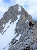 Am Ostgrat der Lipnica - im Hintergrund der Auf- und Abstieg vom Spik