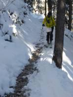 Teils sehr dürftige Schneelage unter 1400 m.