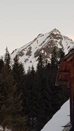Krugspitze Südrinne  von der Gaalwaldhütte gesehen( Aufstieg)
