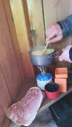 Bergsteigerfrühstücks Zubereitung