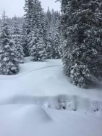 Schnee genug beim Wiederauffellen unter der Sommerhütte