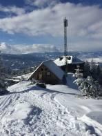 Steinplanhütte heute zwar geschlossen, aber trotzdem sehr gut besucht