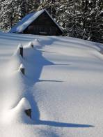 Genug Schnee bei der Singsdorfer Alm