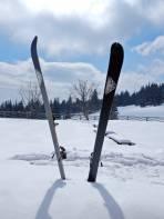 Bei der Brendlhütte gönnte ich meinen Ski eine kurze Pause