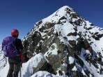 die letzten Meter auf den Gipfel
