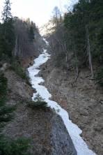 unterster Teil der Gamseckrinne in einem mächtigen Erosionsgraben