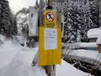 Verbotsschild Liesinggraben