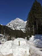 Rückblick von der Dachsteinruhe (seit heuer leider im Winter geschlossen)