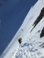 Einstieg Kletterpassage