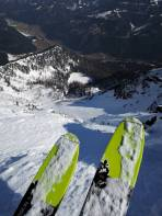 Tiefblick Eberlkar - Eberlsee - Triebental vom Westgrat aus
