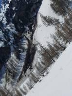 Grundlawine auf ca. 1600 m