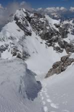 Blick vom Gipfel retour