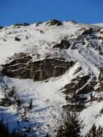 Diese Variante der Abfahrt in den Großen Steinkork sollte nur von Spezialisten gewählt werden.