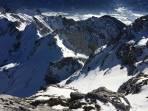 ausgesetzte Querung zum Gipfel