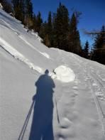 Am 12. Jänner war die Schneedecke verfestigt.