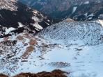 Blick in die Südflanke des Stadelstein in Richtung Moosalm - da liegt nicht mehr viel Schnee!