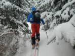 Erster Anstieg bei Schneefall
