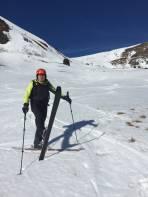 Mein Skitouren Freund Robert zufrieden mit der Abfahrt und dem neuen Sportger