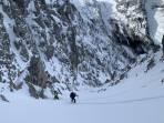 In der Westrinne des Schneeschlitzspitzes
