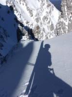 Schöner Ausstieg aus der steilen Narrendattlrinne