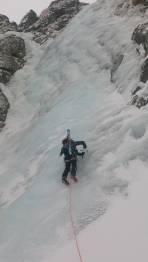 Beginn des Eisfalls (WI 2-3)
