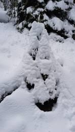 schwere Schnee im unterm Teil