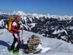 Gipfel mit Blick ins Gesäuse