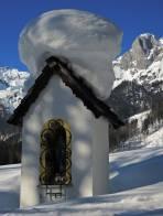 Mühlau: die Schneehaube trotzt noch dem Frühling im Februar