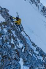 Kletterei zur nächsten Passage