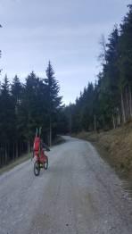 Erste 5km mit Radl, da Schrank zu war