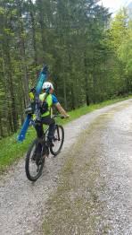 Mit dem Mountainbike ist der Zustieg schnell erledigt