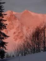 Die Sonne küsste die Berge beim Start auf der Seebergalm.