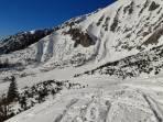Aufstieg vom Kalblinggatterl zur Schipiste, Abfahrt Eisloch