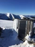 Lärchhütte heute nur Fotomotiv, da nahezu Windstille