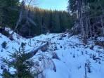 Aufstieg auch bei wenig Schnee noch problemlos möglich
