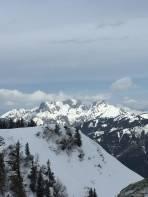 Gipfel Blick zu den Admontern (Kaibling und Reichenstein)