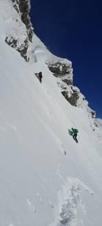 Versuch auf den Kettentalkogel wird wegen Lawinengefahr kurz unter dem Gipfelgrat abgebrochen